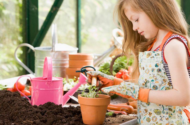 Giardinaggio con i bambini