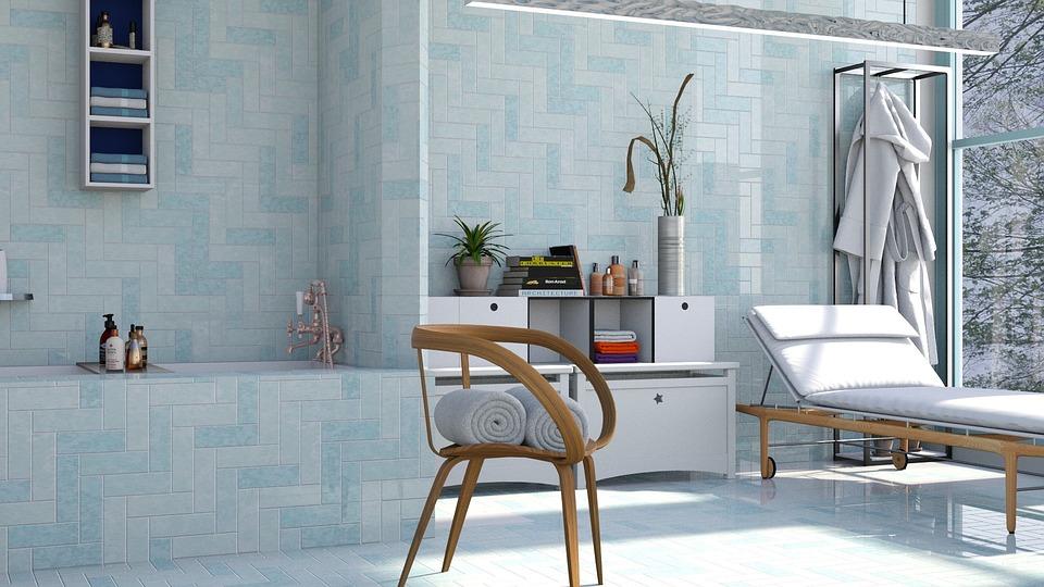 Blu nel bagno in stile marino!